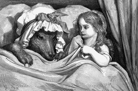 Gustave Dorés Rotkäppchen