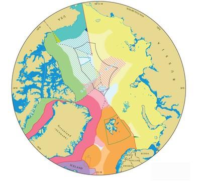 Arktis - schematische Karte